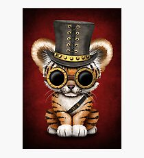 Steampunk Baby Tiger Cub Photographic Print