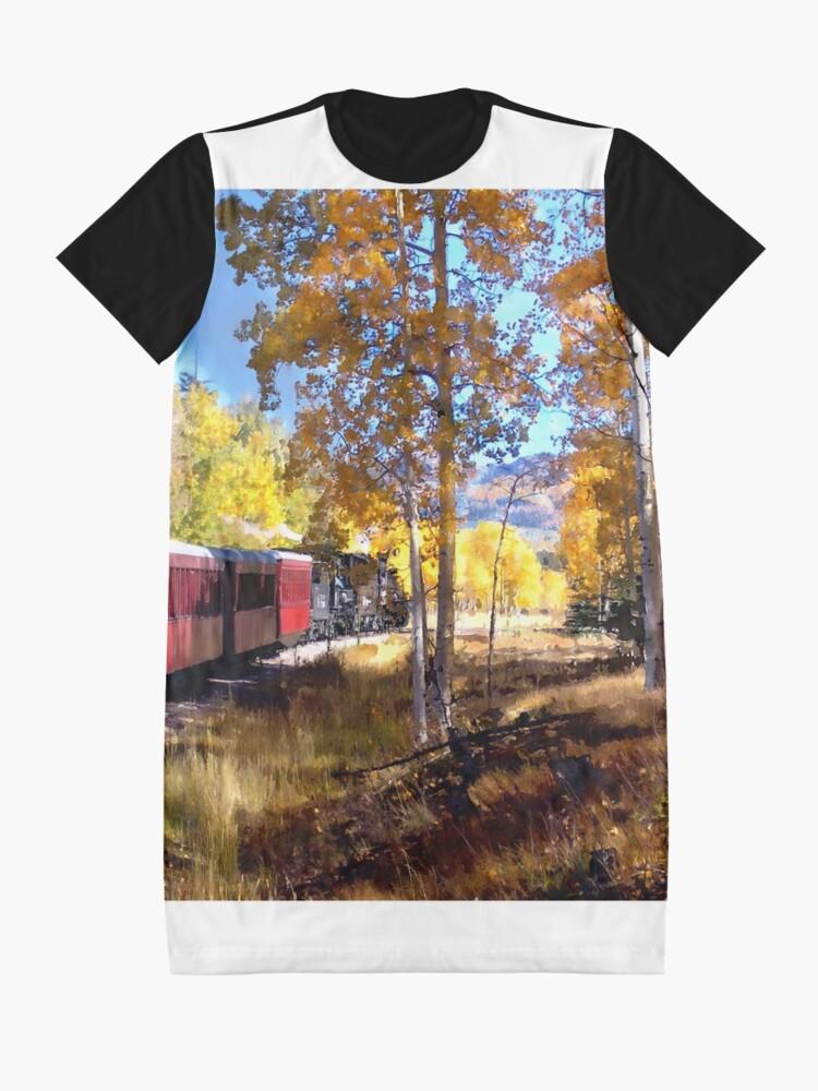 Alternate view of Fall train ride Graphic T-Shirt Dress