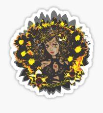 Leo-Queen of Flames Sticker