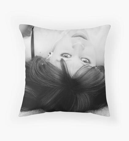 Facial Beauty Throw Pillow