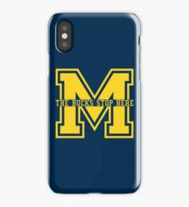 M - The Bucks Stop Here - Maize iPhone Case