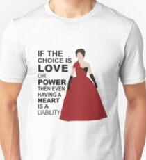 Cora - Love or Power - Black Text Unisex T-Shirt