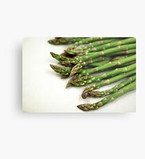 A close up image of fresh asparagus Metal Print