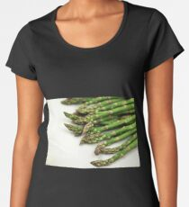 A close up image of fresh asparagus Women's Premium T-Shirt