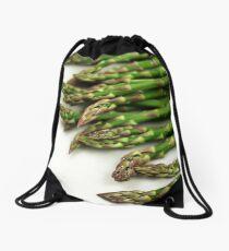 A close up image of fresh asparagus Drawstring Bag