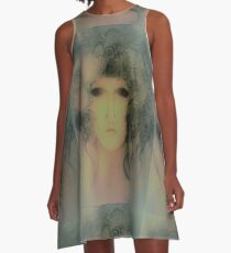 70s woodland haze nymph Anthousai ,Jacqueline Mcculloch A-Line Dress