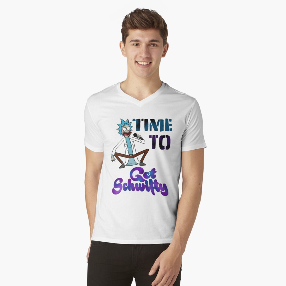 Time To Get Schwifty V-Neck T-Shirt