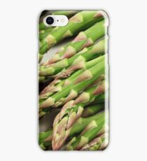 A close up image of fresh asparagus iPhone Case/Skin