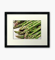 A close up image of fresh asparagus Framed Print