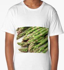 A close up image of fresh asparagus Long T-Shirt