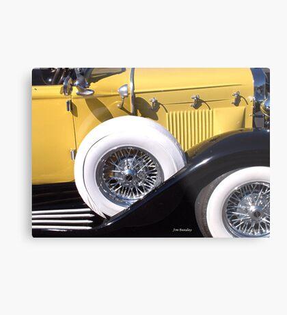 Yellow Roadster Metal Print