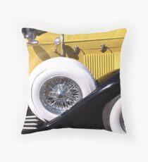 Yellow Roadster Throw Pillow