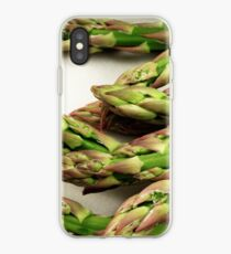 A close up image of fresh asparagus iPhone Case