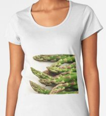 A close up image of fresh asparagus Women's Premium T-Shirt