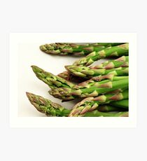 A close up image of fresh asparagus Art Print