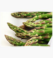 A close up image of fresh asparagus Poster