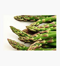 A close up image of fresh asparagus Photographic Print
