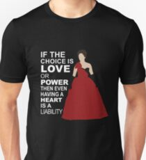 Cora - Love or Power - White Text Unisex T-Shirt