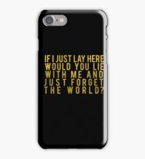 chasing cars iPhone Case/Skin