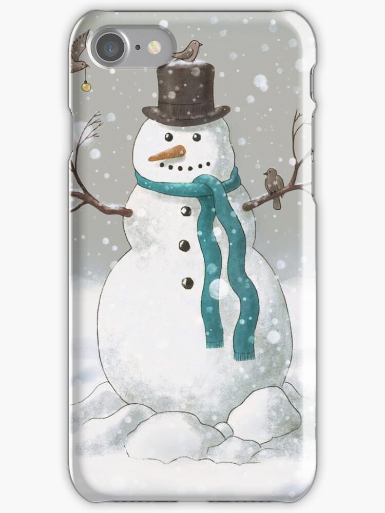 Christmas Snowman  by Terry  Fan