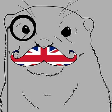 Mustache Flag UK by otterglot