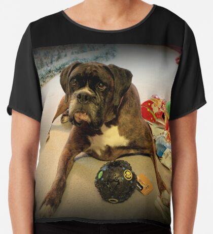 Ist das ein anderes Weihnachtsgeschenk für mich? - Boxer-Hunde-Reihe Chiffontop für Frauen
