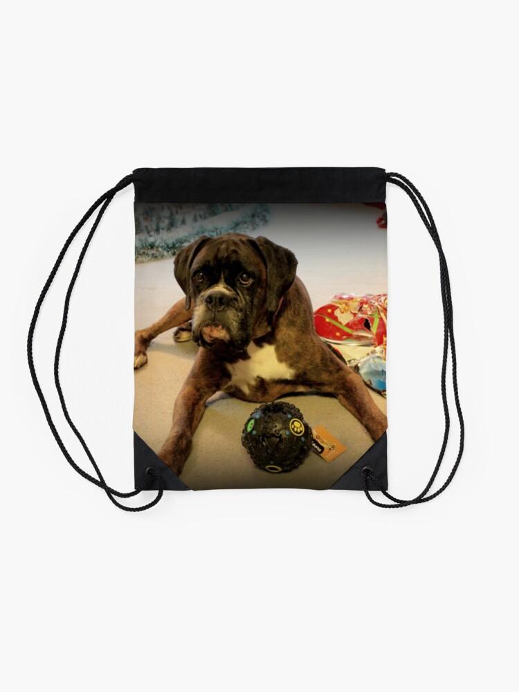 Alternative Ansicht von Ist das ein anderes Weihnachtsgeschenk für mich? - Boxer-Hunde-Reihe Turnbeutel