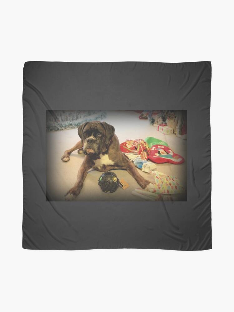 Alternative Ansicht von Ist das ein anderes Weihnachtsgeschenk für mich? - Boxer-Hunde-Reihe Tuch