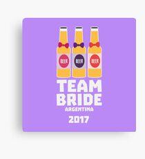 Team Bride Argentina 2017 Rdd74 Canvas Print