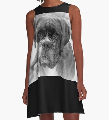 Betrachten meiner neuen Jahre Auflösung ~ Boxer Dogs Series A-Linien Kleid