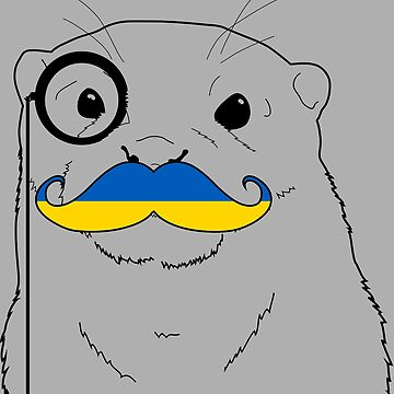 Mustache Flag Ukraine by otterglot