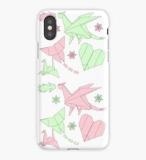 Origami pastel pattern iPhone Case/Skin