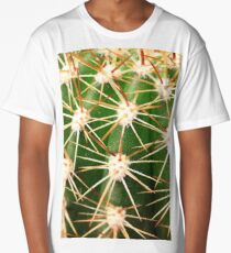 A close up image of cactus spines Long T-Shirt