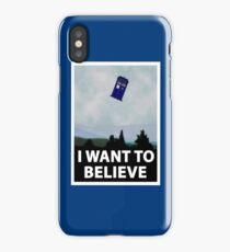 """""""I Want To Believe"""" Police Public Call Box version.  iPhone Case/Skin"""