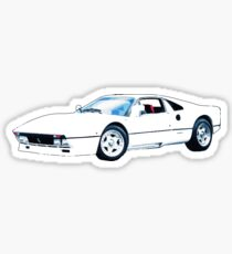 weißer Ferrari Sticker