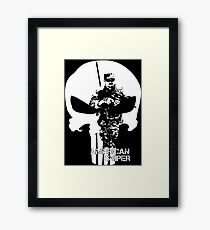 AMERICAN SNIPER CHRIS KYLE THE DEVIL OF RAMADI THE LEGEND Framed Print