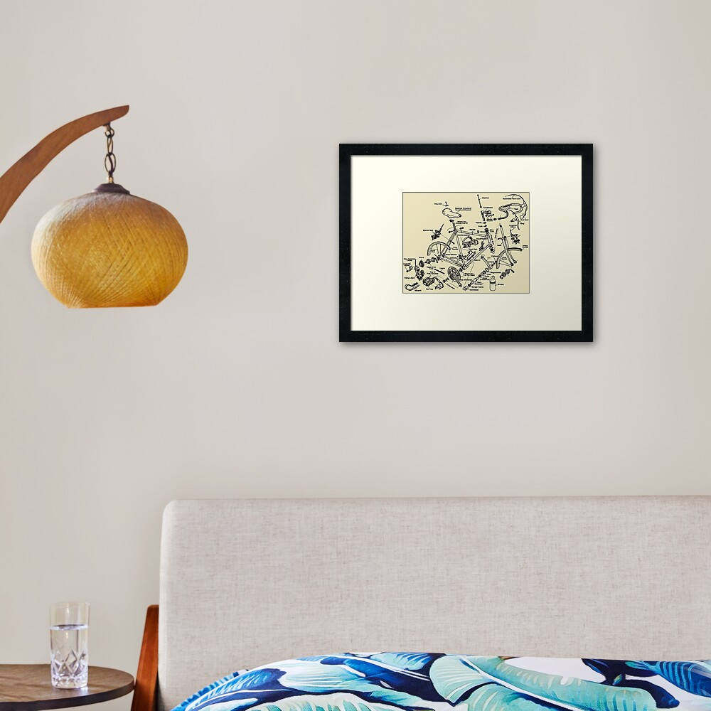 Cycling Tourism Cyclocross Framed Art Print