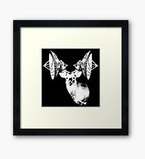 Deer with satellite dish antlers Framed Print