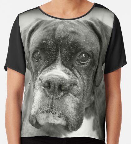 Ist das für mich? .... Boxer Dogs Series Chiffontop für Frauen