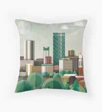 This Green City Throw Pillow