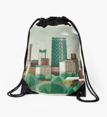 This Green City Drawstring Bag