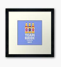 Team Bride Thailand 2017 Rh96y Framed Print