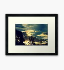 Sunset In The Suburb Framed Print