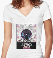 Mob Psycho 100 Women's Fitted V-Neck T-Shirt