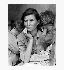 Migrant Mother by Dorothea Lange - The Great Depression Photo Photographic Print