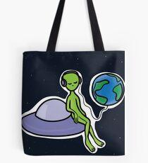 alien in space Tote Bag