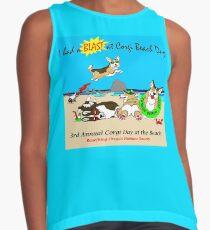 "Corgi Beach Day ""Blast"" Contrast Tank"