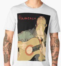 Flamenco guitarra Camiseta premium para hombre