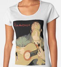 Flamenco guitarra Camiseta premium para mujer