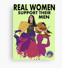 Real Women Fight Back: Military Canvas Print